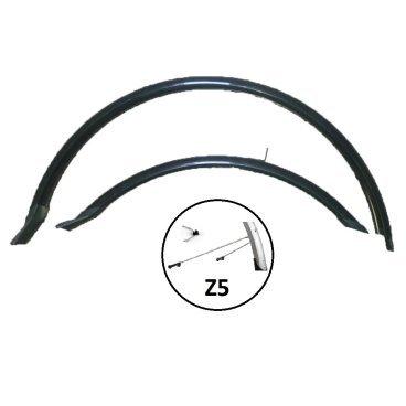 Крылья велосипедные комплект, Vinca HN 12-1 (26 ) black, 26, ширина 60мм, регулируемые стойки.  - купить со скидкой