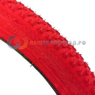 Покрышка велосипедная 24х1.95, красный, PQ 817 24*1.95 red  - купить со скидкой