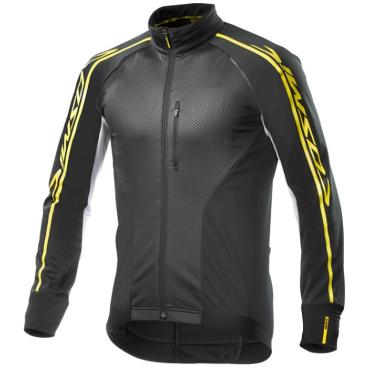 Куртка велосипедная MAVIC Cosmic Elite Thermo, черная-белая, 382145  - купить со скидкой