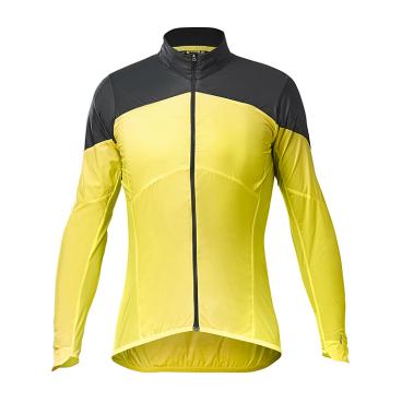 Куртка велосипедная MAVIC COSMIC Wind SL, желтая-черная 2019  - купить со скидкой