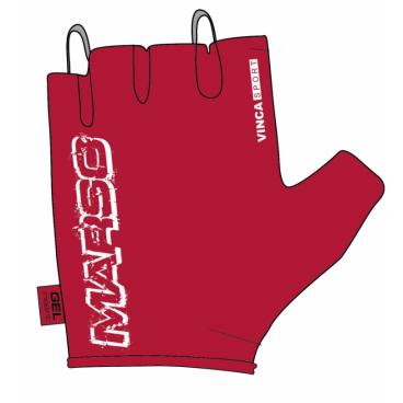 Велоперчатки женские Vinca Sport VG 836 New Marso, красные  - купить со скидкой