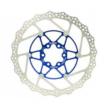 Тормозной диск A2Z SPV двухсекционный, 180 мм, нержавеющая сталь, DOT, синий, SPV-180TD-4  - купить со скидкой