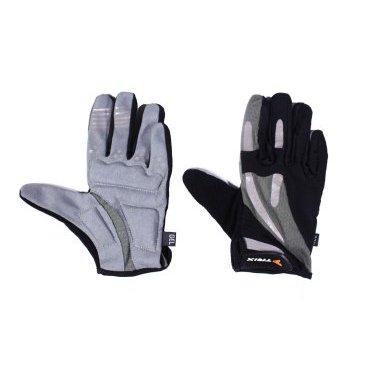 Велоперчатки TRIX, черно-серые  - купить со скидкой