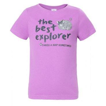 Футболка RedFox Explorer Girl, детская, лиловый  - купить со скидкой