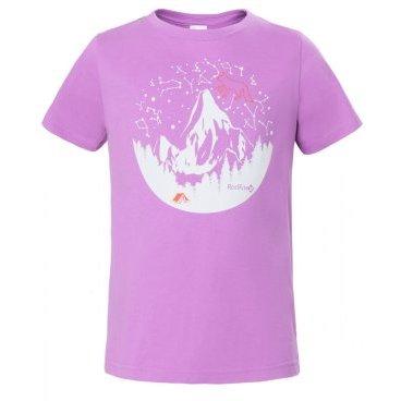 Футболка RedFox Hiker Girl, детская, лиловый  - купить со скидкой
