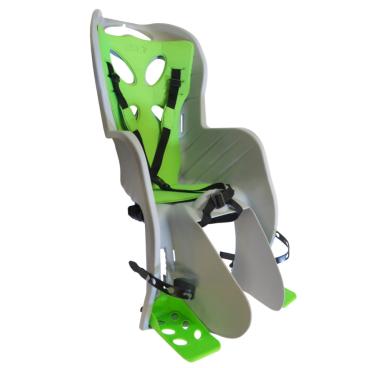 Велосиденье NFUN CURIOSO DELUXE детское, на подседельный штырь, серое с зеленой вставкой, до 22 кг, 01-100079  - купить со скидкой