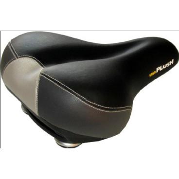 Седло велосипедное VELO VL-6049 NEW PORT, 270х211 мм, эффект памяти, анатомическое, черно-серое, 5-250580  - купить со скидкой