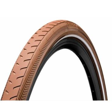 Покрышка велосипедная Continental ClassicRIDE, 28 x1.6 , отражающая полоса, коричневная, 101093  - купить со скидкой
