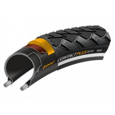 Покрышка велосипедная Continental CONTACT Plus, 27.5 , 42-584, Reflex, 180TPI, SafetyPlusBreaker, E50, черная, 101221  - купить со скидкой