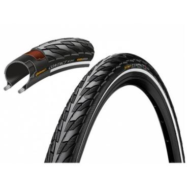 Покрышка велосипедная Continental CONTACT, 700x28C (700C), 28-622, чёр./чёр. Reflex, 180TPI, SafetySystemBreaker, E25  - купить со скидкой