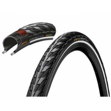 Покрышка велосипедная Continental CONTACT, 28 , 32-622, Reflex, 180TPI, SafetySystemBreaker, E25, черный, 101319  - купить со скидкой