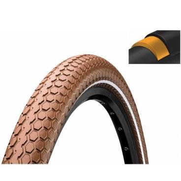 Покрышка велосипедная Continental RIDE Cruiser 26 x2,0 , 50-559, Reflex, 3/180TPI, коричневая, 101524  - купить со скидкой