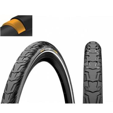 Покрышка велосипедная Continental RIDE City 28 x1.75 , 47-622, Reflex, 3/180TPI, Extra Puncture Belt, черная, 101556  - купить со скидкой