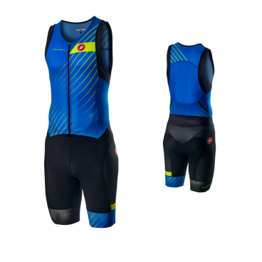 Комбинезон для триатлона Castelli FREE SANREMO SUIT, синий/черный  - купить со скидкой