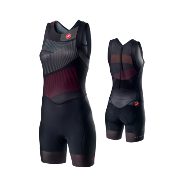 Комбинезон для триатлона женский Castelli FREE W TRI ITU SUIT, черный  - купить со скидкой