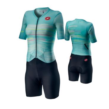 Комбинезон для триатлона женский Castelli PR W SPEED SUIT, голубой  - купить со скидкой