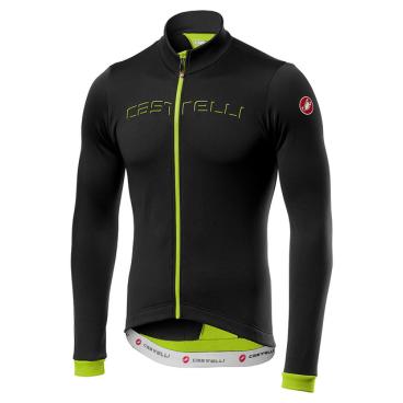Велофутболка Сastelli FONDO FZ, черный/зеленый  - купить со скидкой