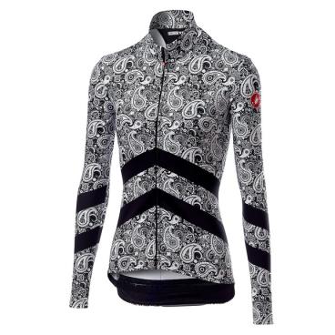 Велоджерси женское Сastelli GOCCIA, черный/белый, 2019  - купить со скидкой