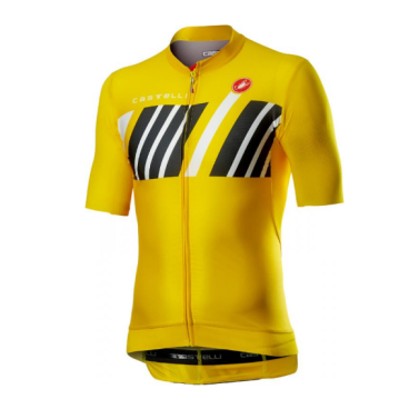 Велофутболка Сastelli Hors Categorie, желтая, 2020  - купить со скидкой