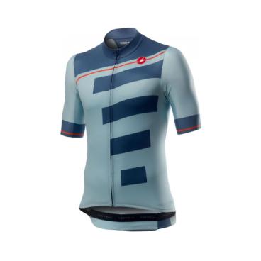 Велофутболка Сastelli Trofeo, голубой/стальной, 2020  - купить со скидкой