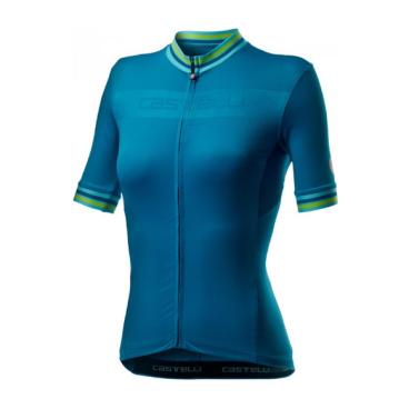 Велофутболка женская Сastelli PROMESSA 3, синяя, 2020  - купить со скидкой