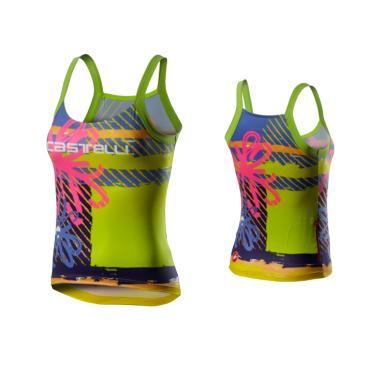 Веломайка женская Сastelli UPF 0- TOP, разноцветная, 2020  - купить со скидкой