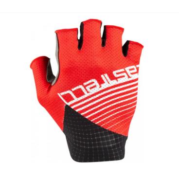 Велоперчатки Castelli COMPETIZIONE, красно-черные, 2020  - купить со скидкой