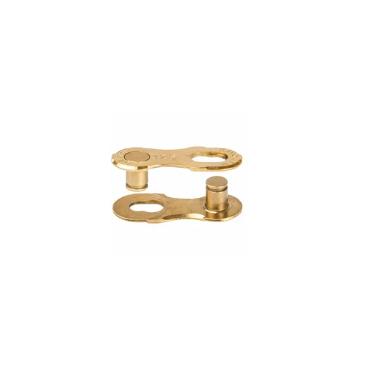 Велозамок цепи ELVEDES Sigma + подходит для всех 12 скоростных цепей, 2 замка, золотой, SCL-17 Ti-Gold  - купить со скидкой
