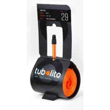 Камера велосипедная ELVEDES Tubo-MTB-29, 1.8″-2.4″, ниппель 42 мм, легкая, под дисковый тормоз, вес 85 г, 33000002  - купить со скидкой