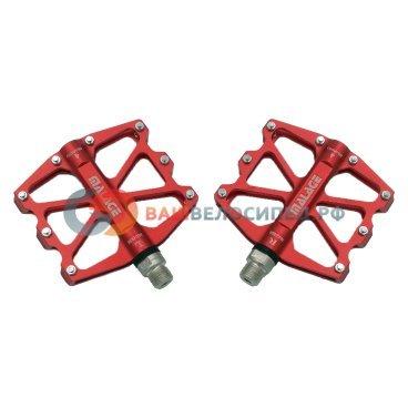 Педали MALAGE mlg-CK518, алюминиевые CNC, 91х101х11мм, ось CrMo, 4 промподшипника, mlg-CK518 RED  - купить со скидкой