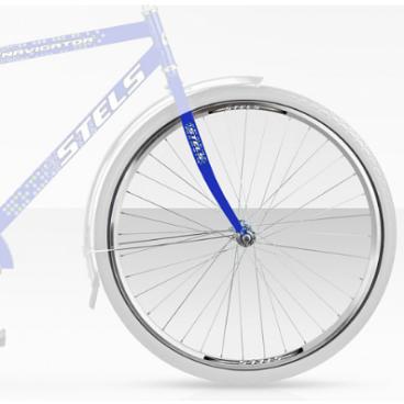 Велоколесо в сборе STELS 28 , переднее, 36Н, для Stels Navigator 310/350, на гайках, AV, серебристый, 630011, LU007847  - купить со скидкой
