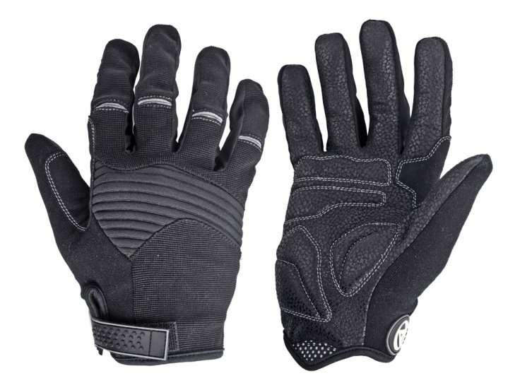 Перчатки 8-7131248 длинные пальцы Men Single T р-р M  черно-серые AUTHOR