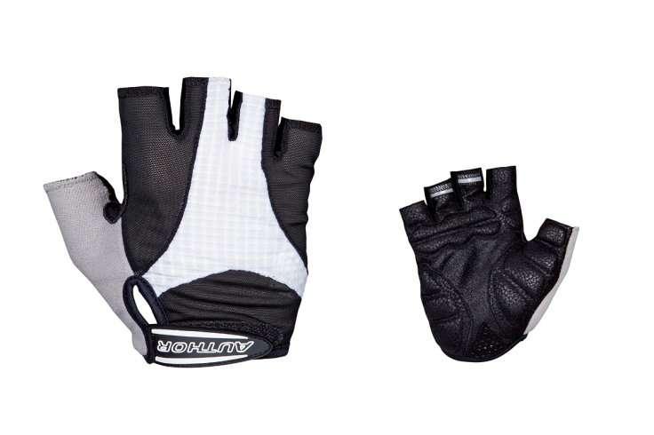 Перчатки 8-7130592 Men Elite Gel черно-белые р-р XXL  с петельками AUTHOR