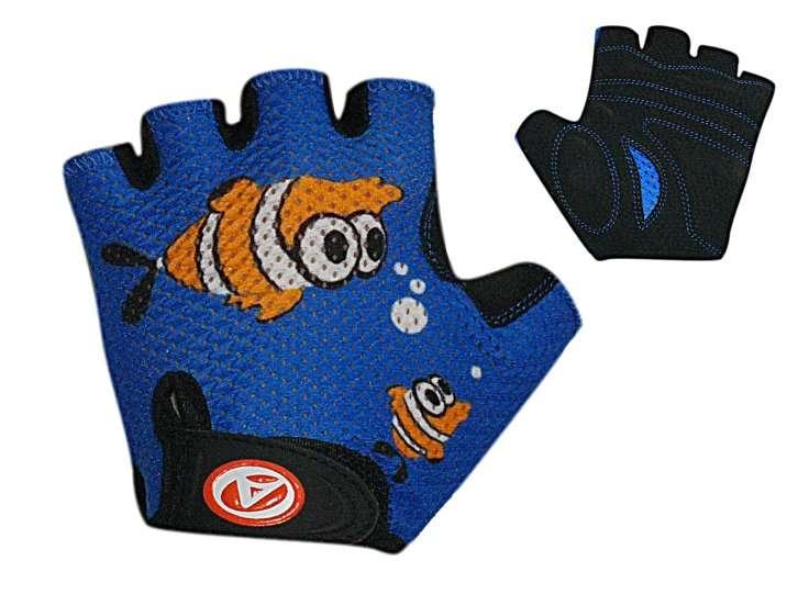 Перчатки 8-7130880 подростковые Junior Ping. сине-черные р-р S замша/синт. кожа AUTHOR