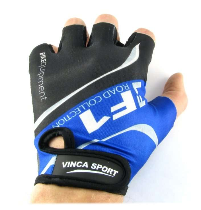 Перчатки велосипедные, синие, размер ХL, Vinca sport VG 924 blue (XL)