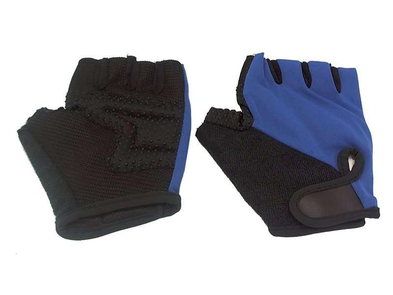 Перчатки кожаные TBS H-89, нейлон, чёрно-синие, ладонь с кевларовой нитью, дышащие, размер: M, H-89