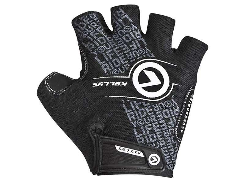 Перчатки KELLYS COMFORT, без пальцев, чёрный/белый, М, Gloves Gloves COMFORT NEW black-white М