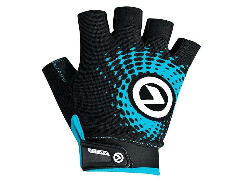 Перчатки KELLYS IMPACT SHORT Lycra, чёрный/синий, M, Gloves IMPACT SHORT Lycra black-blue, M
