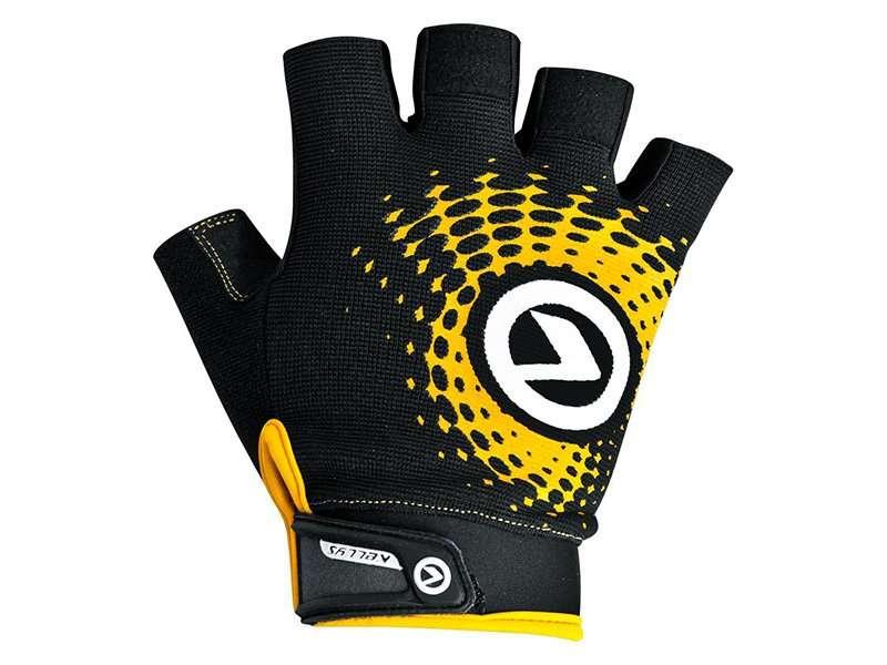 Перчатки KELLYS IMPACT SHORT Lycra, чёрный/оранжевый, XL, Gloves IMPACT SHORT Lycra black-orange, XL