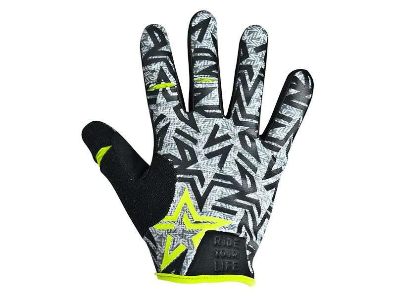 Перчатки KELLYS IMPULS long, салатовые, M, Gloves IMPULS long  lime green M