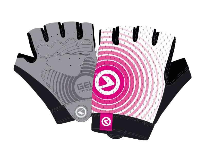 Перчатки KELLYS INSTINCT short, без пальцев, бело-розовые, XL