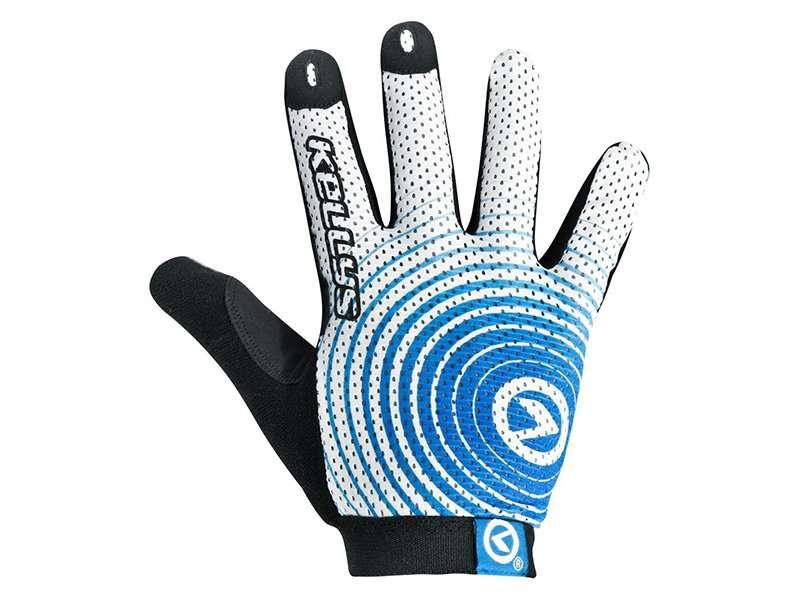 Перчатки KELLYS INSTINCT long, бело-синие, S, Gloves INSTINCT long , white/blue S