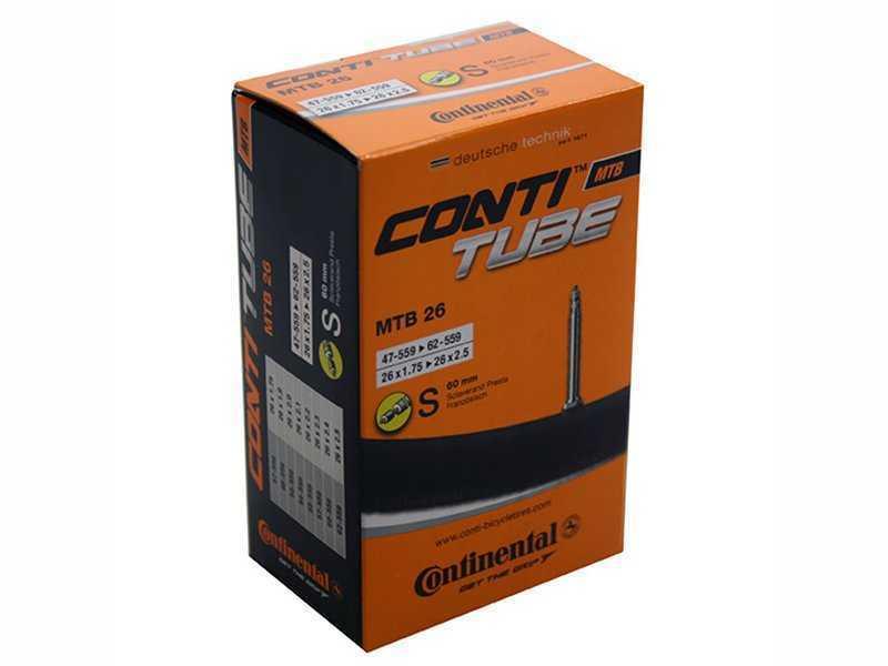 Камера Continental MTB 26, 47-559/62-559, S60, велониппель