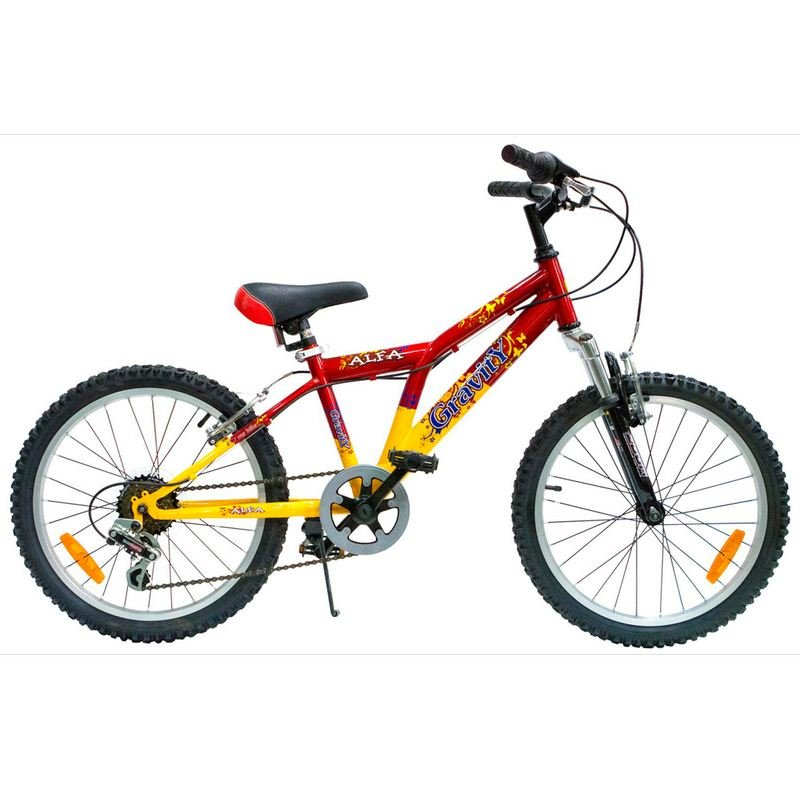 Детский велосипед Gravity ALFA 20 2015 (Возраст 6 - 9 лет рост до 135 см красный/желтый).