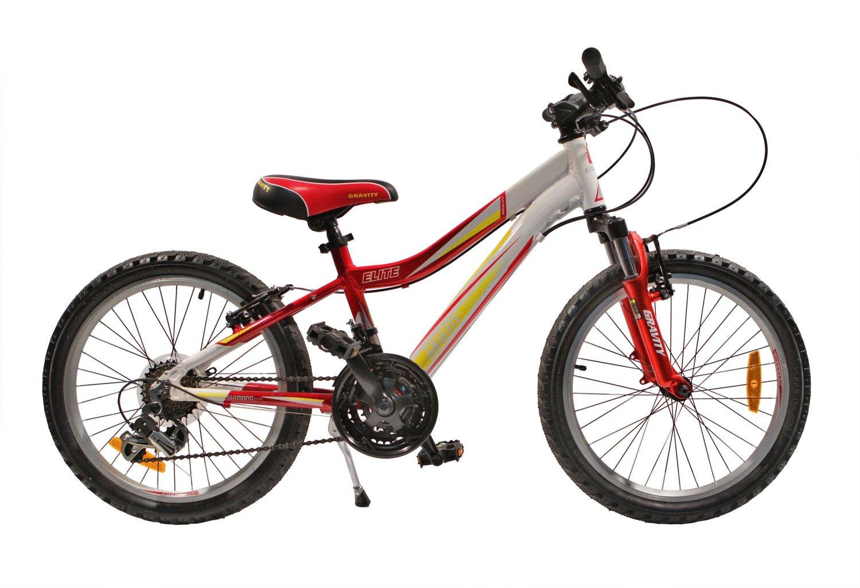 Детский велосипед Gravity ELITE 20 2015 (Возраст 6 - 9 лет рост до 135 см красный/белый).