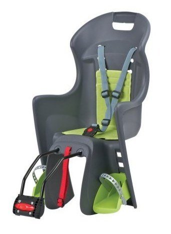 Детское велокресло Author Boodie на подседельный штырь Multifix серо-зеленое до 22кг 8-16240171