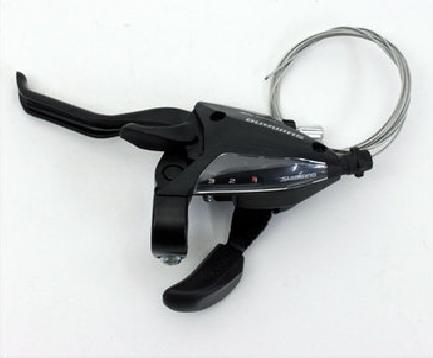 Шифтер велосипедный с тормозной ручкой, Shimano Tourney EF500, левый, 3 скорости, трос, ESTEF5002LSBL