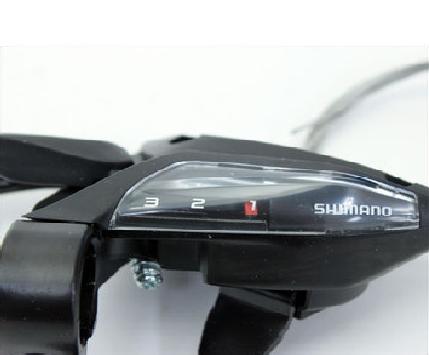 Шифтер велосипедный с тормозной ручкой, Shimano Tourney EF500, левый, 3 скорости, трос, ESTEF5002LS