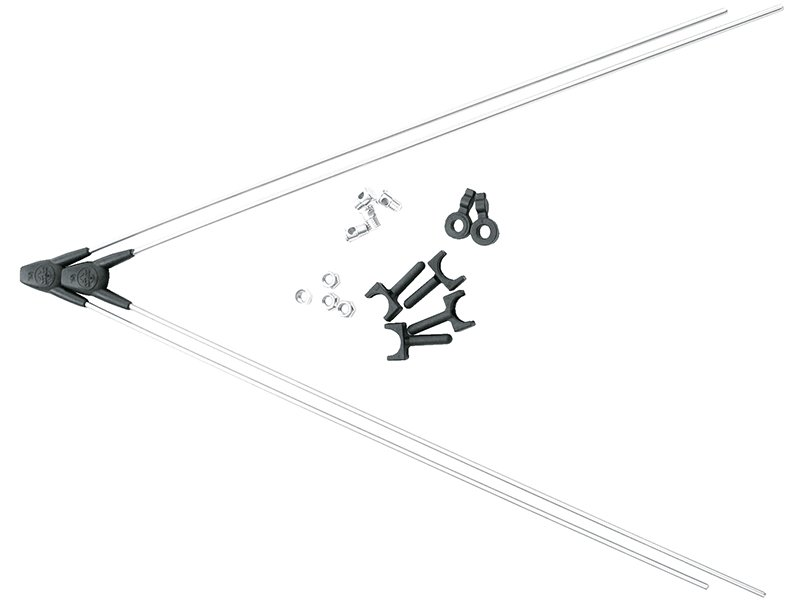 Комплект крепежа для BLUEMELS на переднее колесо: 2 стойки ASR, 4 болта/гайки/заглушки, 8359