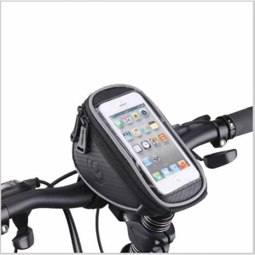 Велосумка MINGDA на руль и вынос, L17,5хH8,5хW10,5 с отделением для смартфона 16,5х8,5см, 11810-M